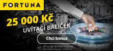 Online kasino Fortuna Vegas nabízí bonus 25 000 Kč
