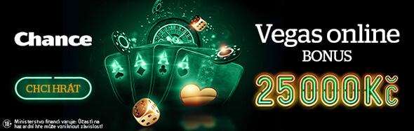 Získejte bonus až 25000Kč uChance Vegas