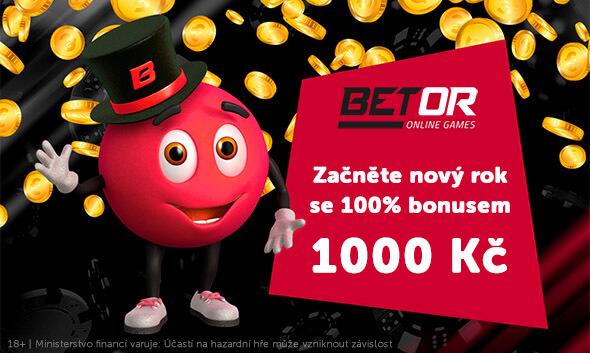 Bonus až 1000Kč ke vkladu uBetoru